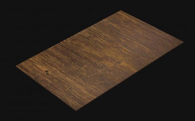 resimdo CO-WO-W671 Rustic Indoor Plank Selbstklebende Folie braun für Tisch, Treppe, Wand, Küche Kachel
