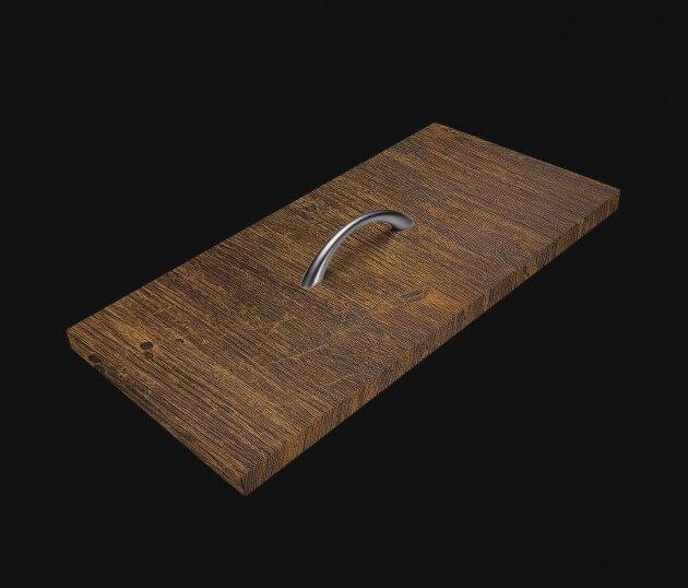 resimdo CO-WO-W671 Rustic Indoor Plank Möbelfolie braun für Küchenmöbel, Couchtisch, Wohnwand, Kommode Schublade