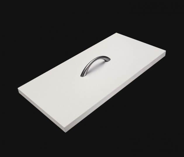 resimdo CO-BA-S158 Rough Parakeet Klebefolie hellgrau matt für Wohnzimmermöbel, Tische und Wände Schublade