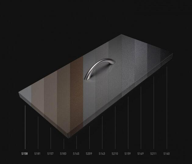 resimdo CO-BA-S158 Rough Parakeet selbstklebende Möbelfolie hellgrau grau für Tische, Türen und Treppen Farbskala