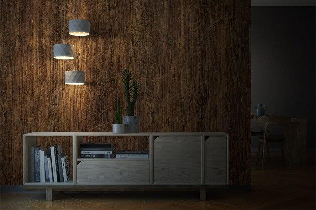 resimdo CO-WO-W671 Rustic Indoor Plank Schrankfolie braun für Schlafzimmerschrank, Einbauschrank, Küchenschränke Beleuchtung